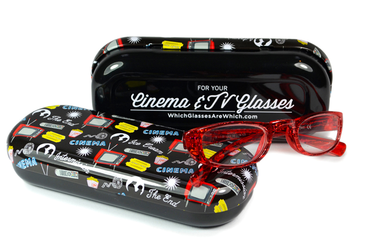 Cinema glasses case with glasses