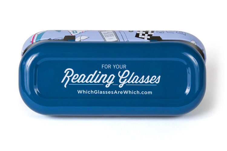 Reading glasses case bottom
