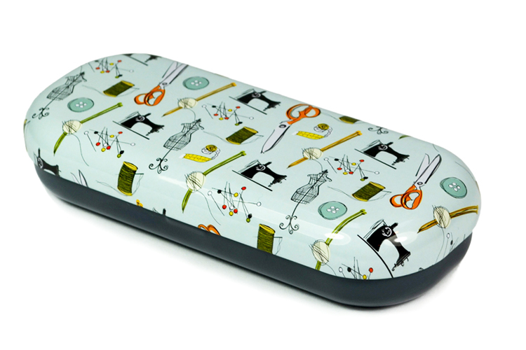 Reading glasses case top